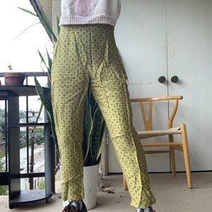 Pants - Vintage Green Printed Pants